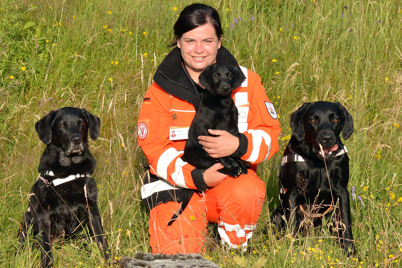 Sonja Späth mit Max, Dutch und Tough